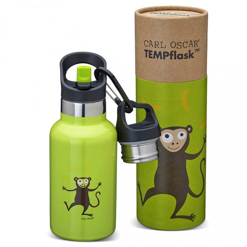 TEMPflask, gyerek termosz kulacs 350ml - Lime