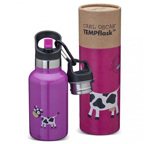 TEMPflask, gyerek termosz kulacs 350ml - lila