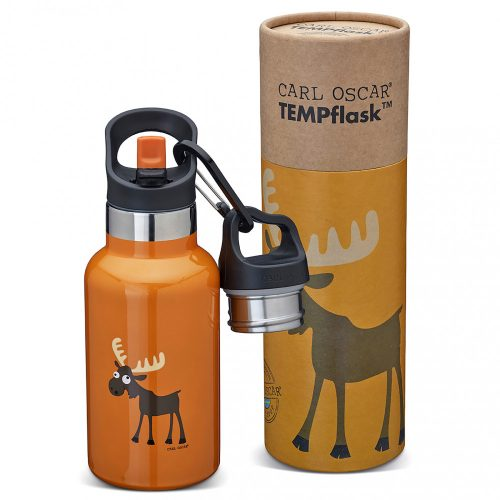 TEMPflask, gyerek termosz kulacs 350ml - narancs