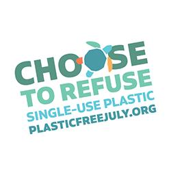 műanyag mentes július mozgalom logo
