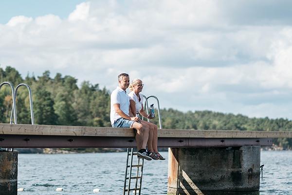 Annika és Niclas valahol Svédországban.