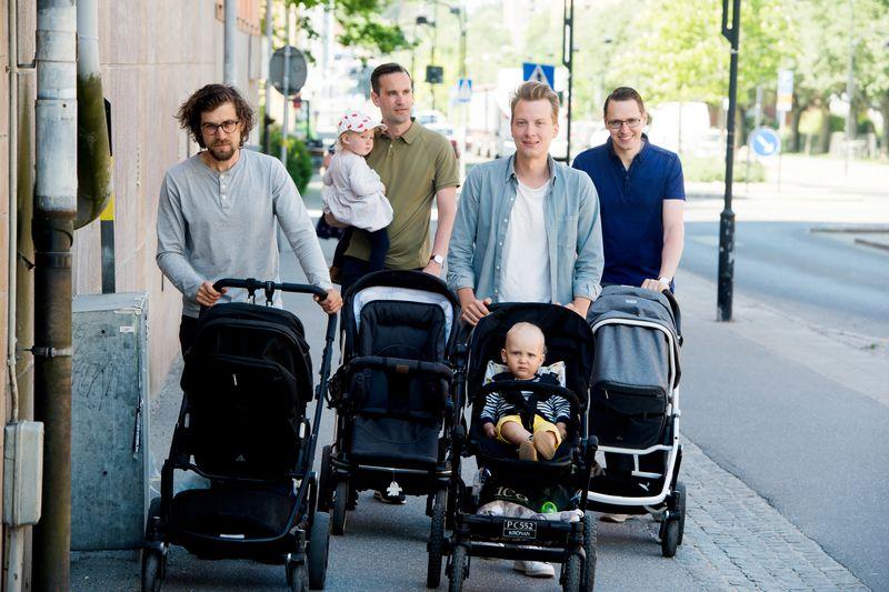 apák gyesen svédországban